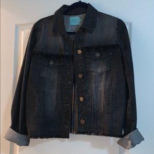 judith march black denim jacket